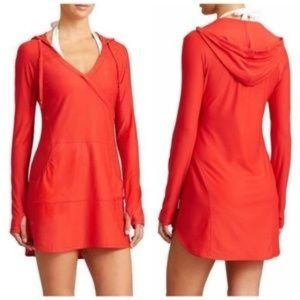 Athleta Wick-It Wader Coverup in Coral Sizzle